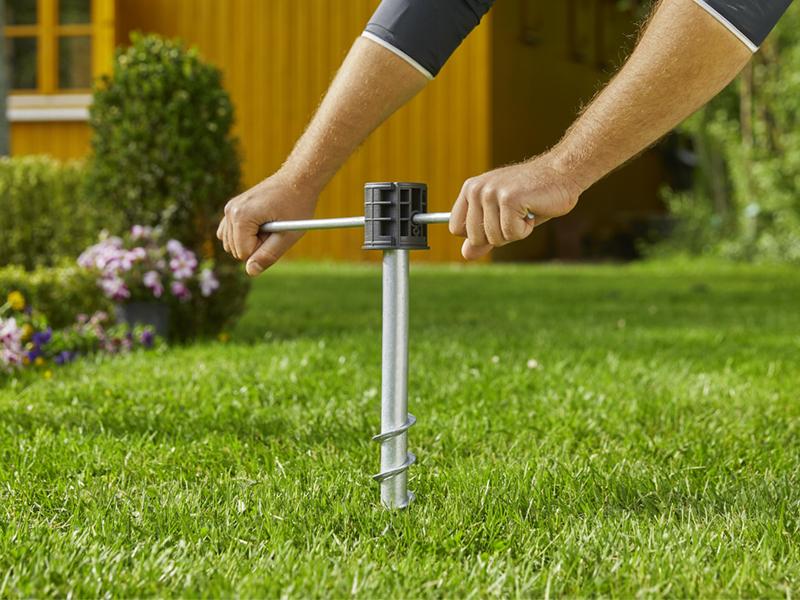 Gardena Freestanding Auto Hose Reel Ground Spike